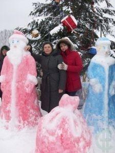 Агротуристы праздную Рождество в селе Чамерево Владиимрской области